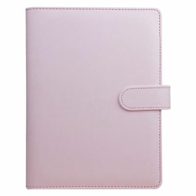 y Monthly Planner Diary Classic Loose-Leaf-Ring-Binder Notebook Cover, Pink M4G7