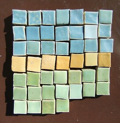 46 Antq Batchelder Arts & Crafts Los Angeles Unused Miniature Mosaic Tiles