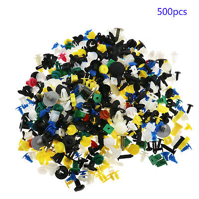 500 Car Auto Door Panel Bumper Push Pin Rivet Retainer Trim Clips Fastener