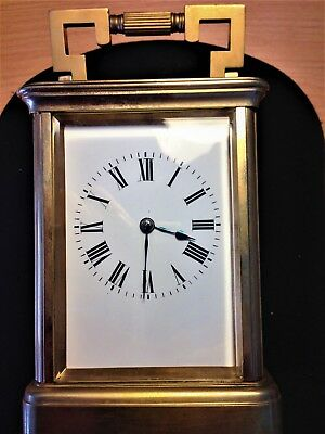 Antique Large Brass French Striking Carriage Clock