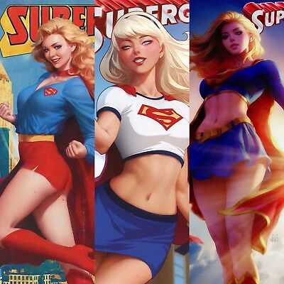 Supergirl Volume 7 #18 #19 #20 Artgerm Stanley Lau Variant Retro Costume Covers