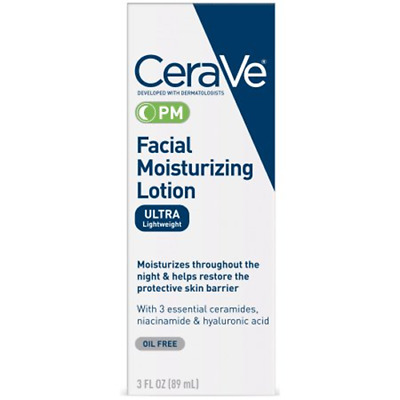 Cerave Facial Moisturizing Lotion Pm Ultra Lightweight Oil Free 89Ml