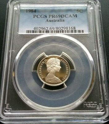 1984 5 Cent Proof Coin. PCGS Graded PR69DCAM. Only 4 higher. Fantastic Example.
