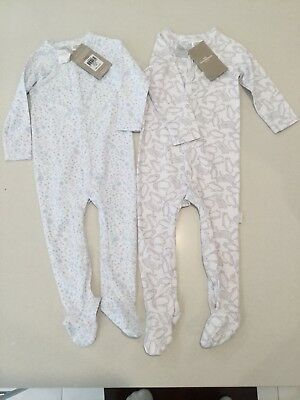 Two Brand New Sheridan Baby Sleep Suits Size 6-12 Months (0)