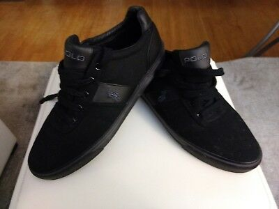 11d Fashion Polo Lauren 'hanford' Men's Nwob Canvas Sneakers Ralph Leather y0NvPm8nwO