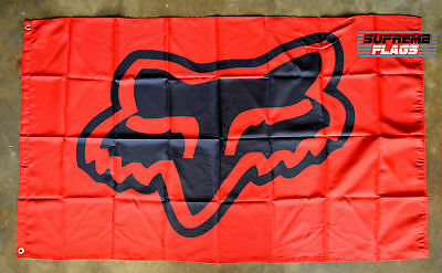 Fox Racing Flag Banner 3x5 ft Head Garage Red