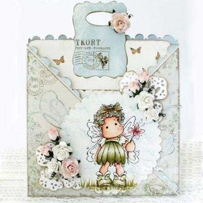 New Lovely Girl Clear Stamps + Metal Cutting Dies Embossing Album Paper Cards