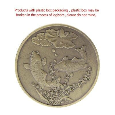 Lucky Fish Fortunate Floral Commemorative Coin Collection Arts Gifts Souvenir