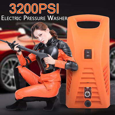 3200PSI High Electric Pressure Water Cleaner Gurney Spray Gun Hose Pump Car Wash