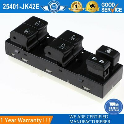 25401-JK42E Front Left Master Window Control Switch For Infiniti G35 G37 G25 Q40