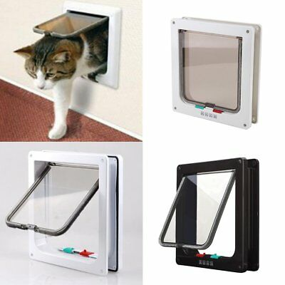 4 way Pet door Larger Locking S M L Size Dog And Cat Flap Magnetic Door Frame AU