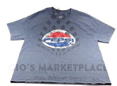 """Authentic Original Pepsi T-shirt Size M with 9"""" circle logo on Front, Blue"""