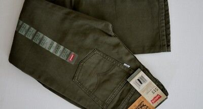Levi's 513 Slim Straight Ivy Green Cord Boy Kids Jeans Pants Size 14, 16, 18
