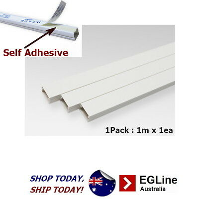 Cable Ducting Duct Trunking Square shaped -Self Adhesive (White)