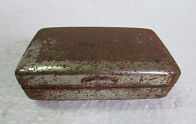 Vintage old Handcrafted ship Engraved nickel Iron Betel Nut Box Collectible