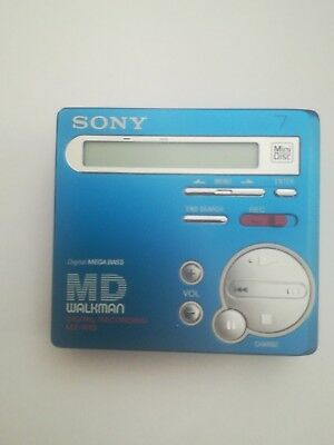 Sony MZ R70  Minidisc Player Recorder Blau