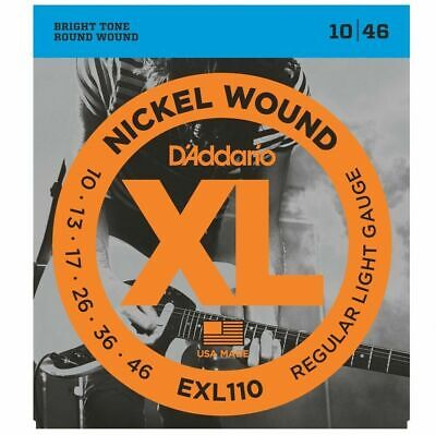 D'Addario EXL110  Electric Guitar Strings 10 - 46     -EOFY  super sale*