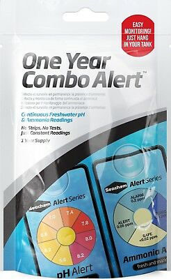 Seachem pH & Ammonia One Year Combo Alert Pack 12 Months Continuous Test Monitor