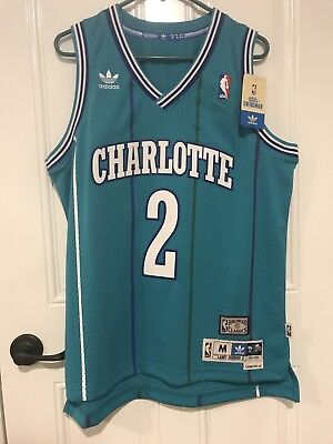 3d2436bfcd8c ... spain adidas charlotte hornets larry johnson soul swingman jersey size  medium m new 02781 22246