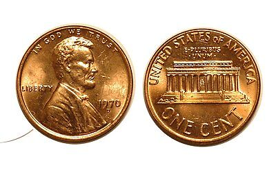 1970-D Lincoln Cent - Double Die CONECA # DDO-005 Choice BU red #504