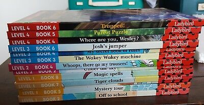 Read With Ladybird  Bundle 13 Books Levels 1-4 Starting to read - independent