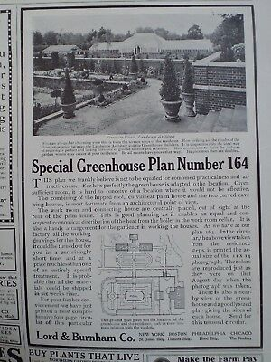 1911 LORD & BURNHAM #164 Greenhouse Manufacturers January 1911 Country Life