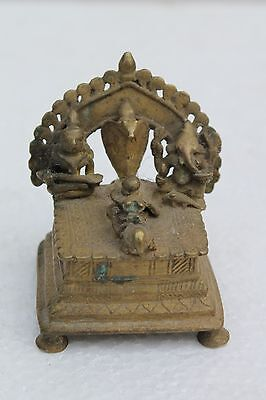 Antique Hindu Traditional Indian Ritual Bronze 'Family Of God Shiva' Rare NH1014