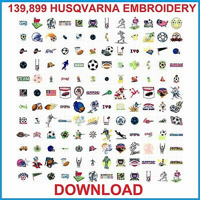 139,899 HUSQVARNA EMBROIDERY Machines HUS Format Designs Patterns DOWNLOAD