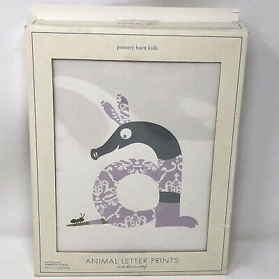 Pottery Barn Kids Animal Letter Prints Personalized Art Spell Out Name Alphabet