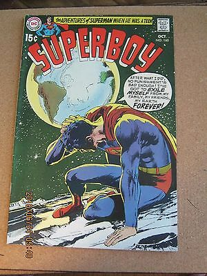 Superboy #160 October 1969 beautiful Neal Adams cover DC Comics Very Fine +    K