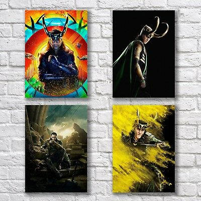 Tom Hiddleston Loki Poster A4 NEW 2018 Set Thor Ragnarok Avengers