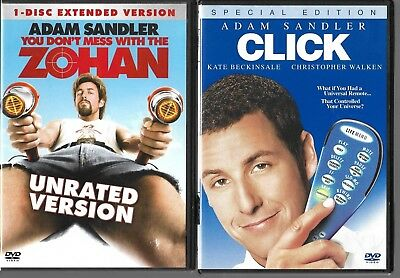 YOU DONT MESS With The Zohan / Click (DVD) 2 Adam Sandler Movies!!  ***Great!!***