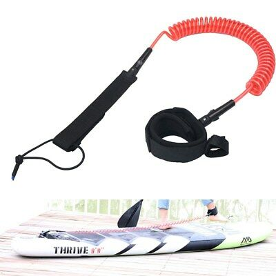SUP Leash Coil Knöchel Manschette Fangleine Wellenreiten Stand Up Board Rot