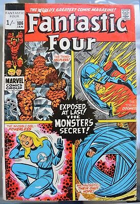 Fantastic Four. *5* Bronze Age issues. #106, 110, 111, 116, 117