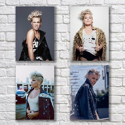 Pink Poster A4 NEW Set of 4 What About Us Beautiful Trauma Try P!nk #1