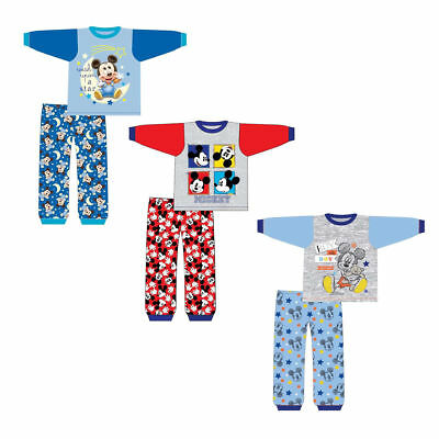 Kids Disney Baby Boys Mickey Mouse PJs Pyjamas Pyjama Set 6-9 to 18-24 Months