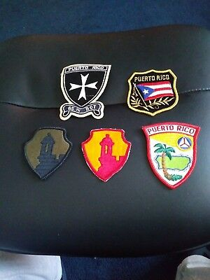 Puerto Rico Patches Lot (5)