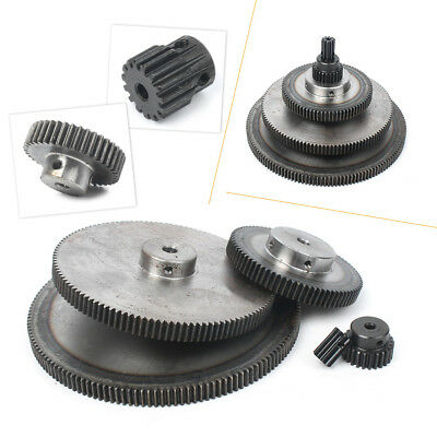 1 Mod 10-150Tooth Spur Gear With Step 45# Steel Motor Gear Pinion Axial Off Road