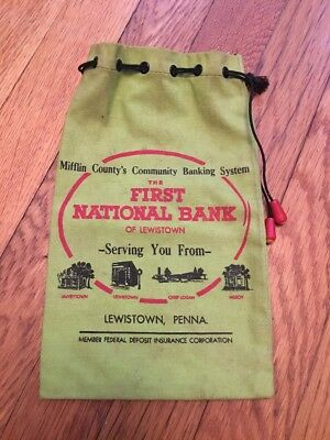 Very Rare First National Bank Of Lewistown, Penna. Bag !!