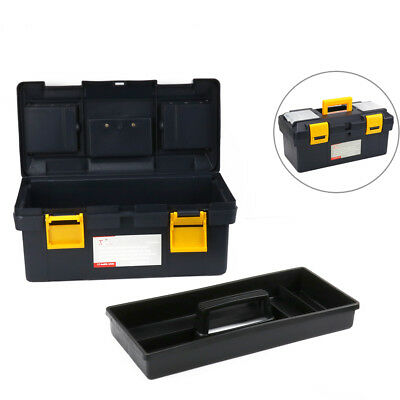 17 Inch Plastic Box Portable Large Tool Storage Multifunction Box Home Work New