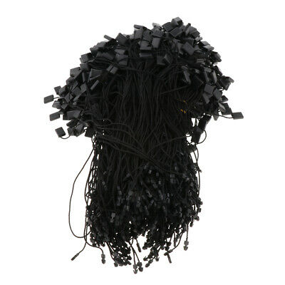 1000x 7.5-Inch  Tags Rope String Snap Lock Pin Loop Tie Fasteners -Black