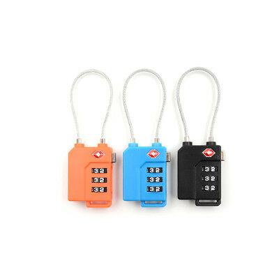 Resettable 3 Digit Combination Travel Luggage Suit Code Lock Customs PadlockYEZY