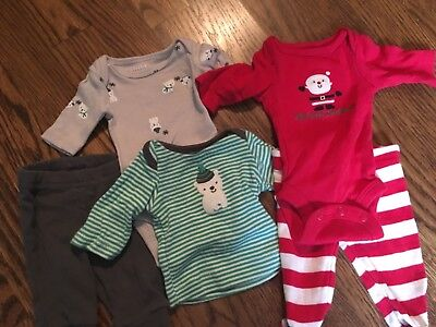 b3fddb6ace6f Baby Boy Five Piece Lot Of Winter Christmas Clothing Carters Preeme