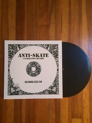 Anti-Skate Blank Vinyl Calibration Record