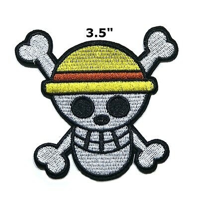 One Piece Logo Embroidered Anime Manga Cartoon Patch Iron On Or Sew US Seller