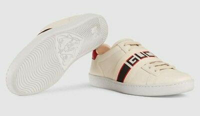 758a0154e GUCCI ACE BLIND for Love Blue Red Detail Web Patches Mens Sneakers ...