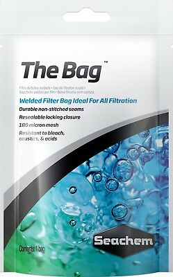 Seachem THE BAG 5'' x 10'' Ultra Fine Aquarium Media Bag Fish Tank for Purigen