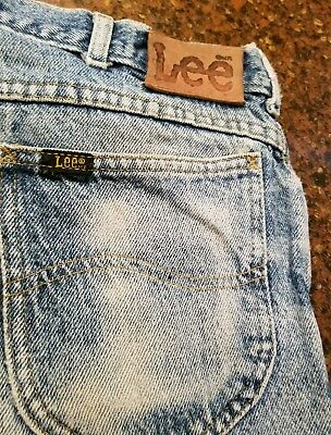 Vintage Lee Riders Faded Distressed Ripped  Jeans Denim 36x30