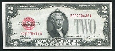 Fr. 1504 1928-C $2 Two Dollars Red Seal Legal Tender United States Note Unc