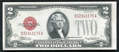 Fr 1505 1928-D $2 Two Dollars Red Seal Legal Tender United States Note Gem Unc